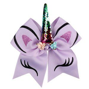 Other - NEW Purple Unicorn Hair Bow